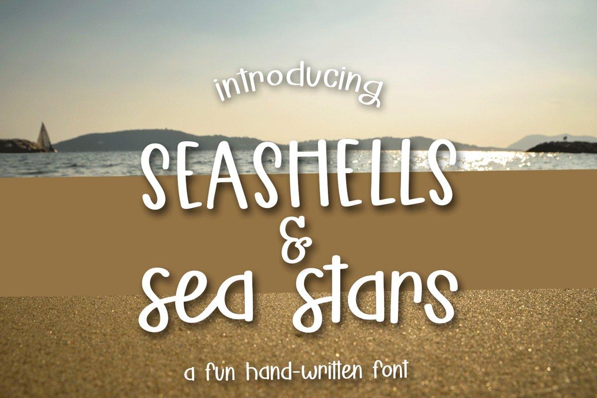 Seashells & Seas Stars - A Fun Hand-Written Font example image 1