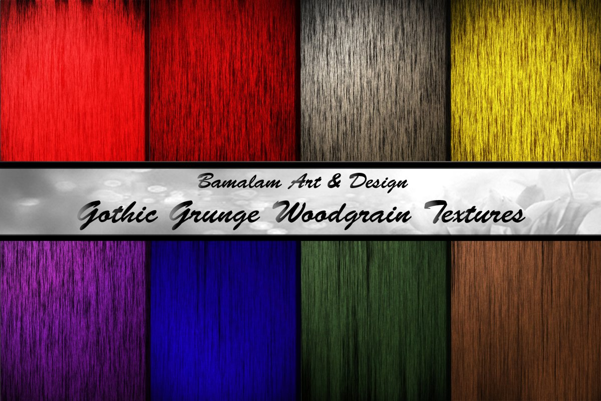 Gothic Grunge Wood Grain Textures example image 1