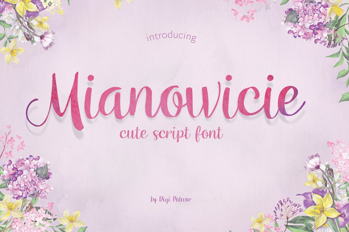 Mianowicie font example image 1