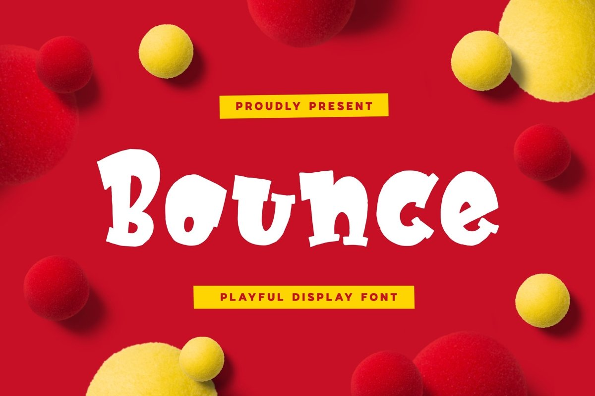 Bounce - Playful Display Font example image 1