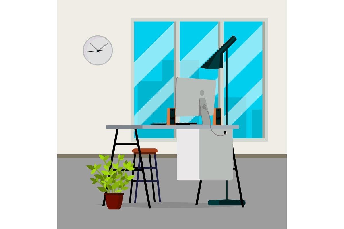 Office Interior Vector. Modern Interior Design. Business example image 1