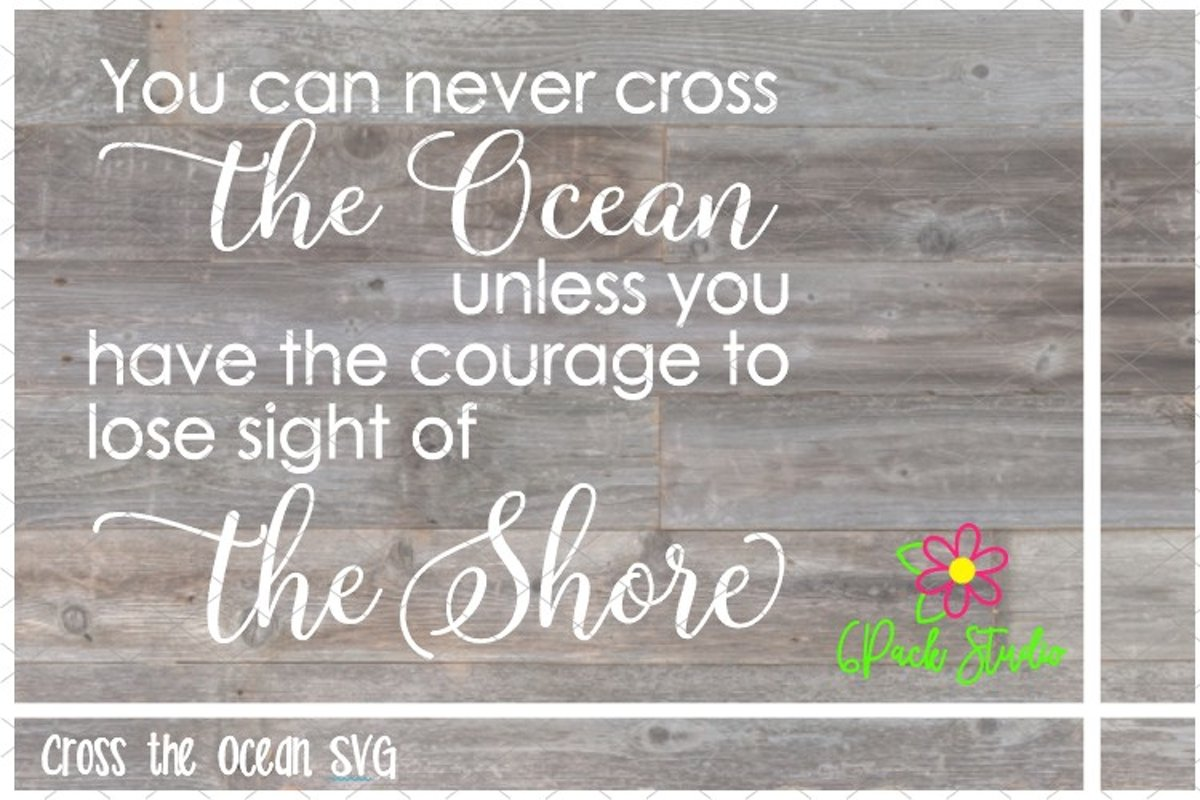 Cross the Ocean SVG example image 1