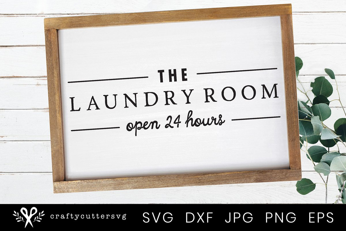 Check your Pockets Farmhouse Laundry Room Sign SVG example image 1