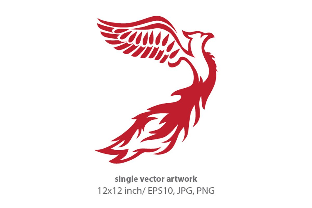 Phoenix Bird - single vector artwork example image 1