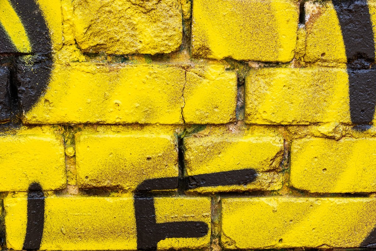 Background of yellow brick wall example image 1