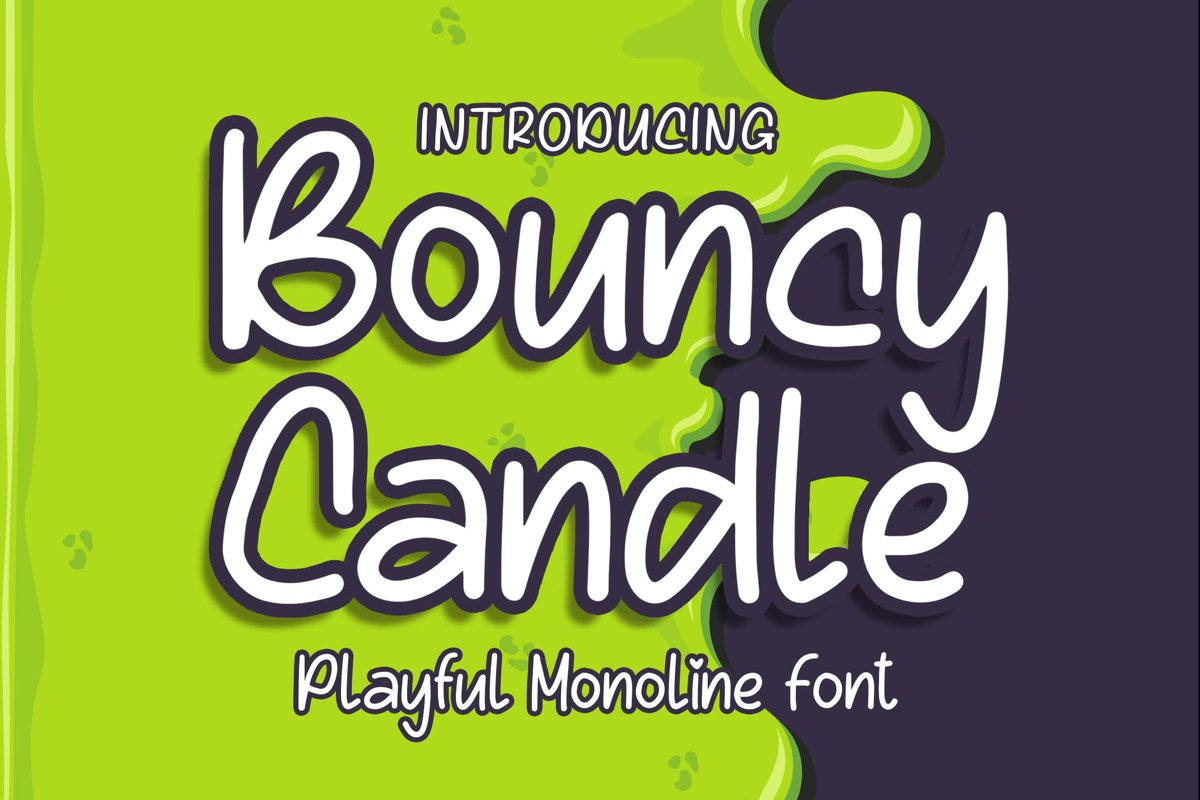 Bouncy Candle - Playful Monoline Font example image 1