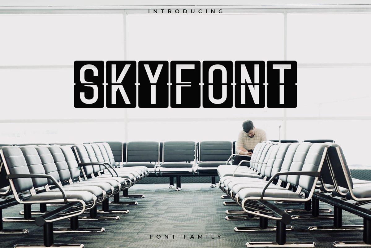 Skyfont Font Family - Sans Serif example image 1