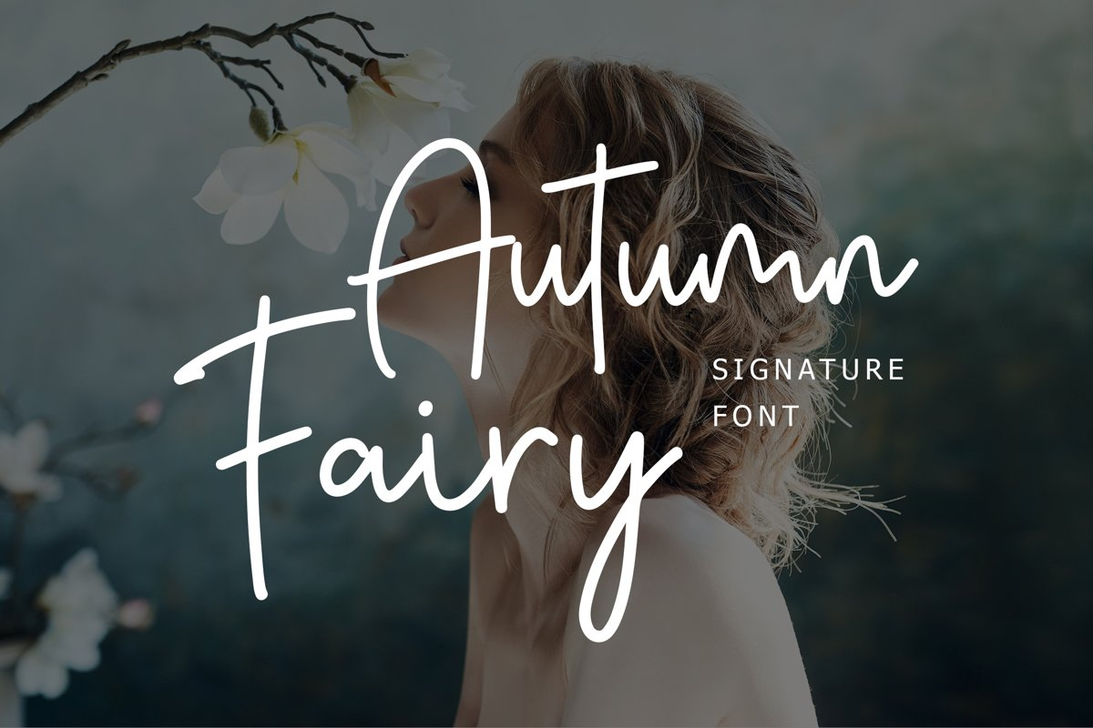 Autumn Fairy Signature Monoline Font example image 1