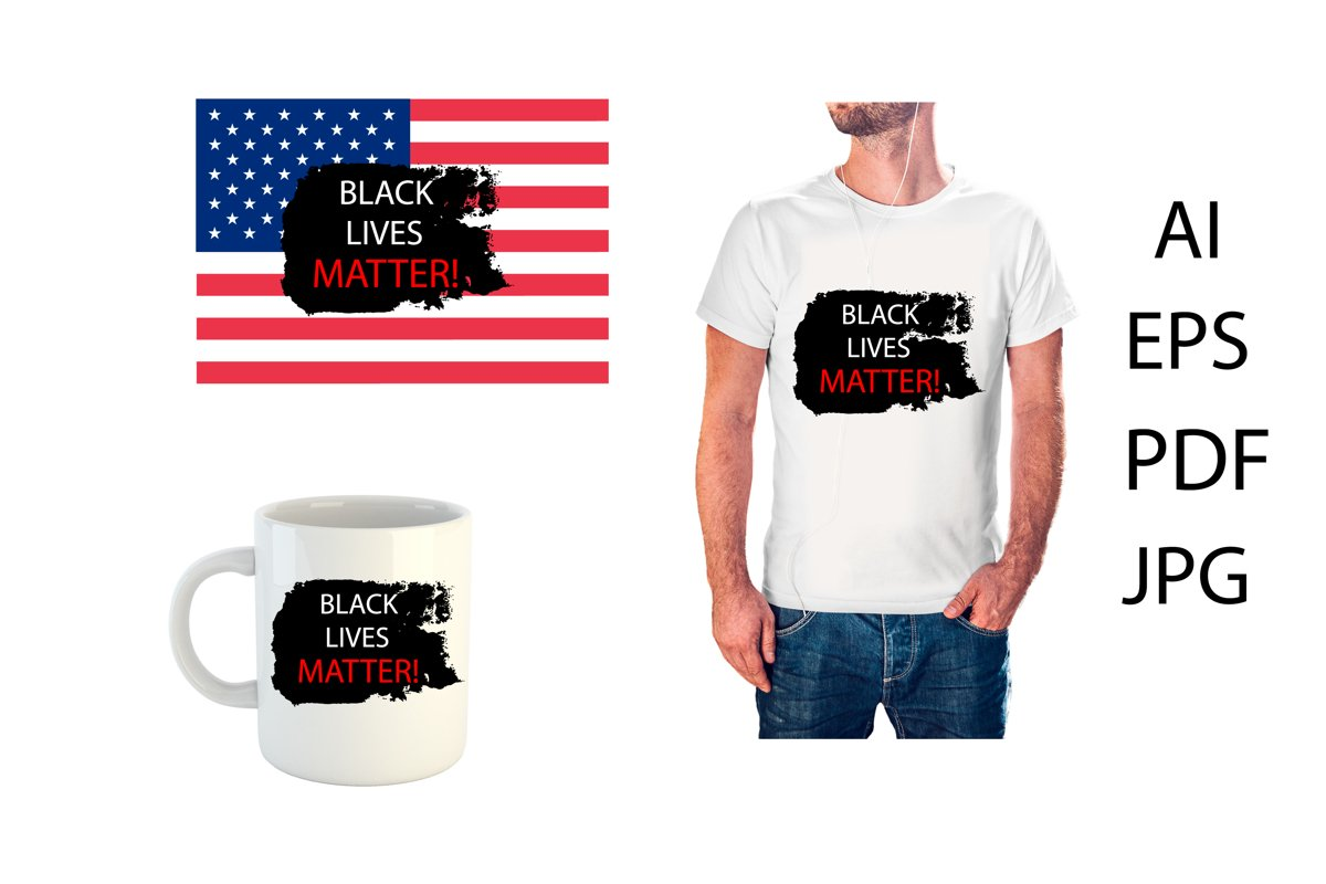 Black Lives Matter banner, print example image 1