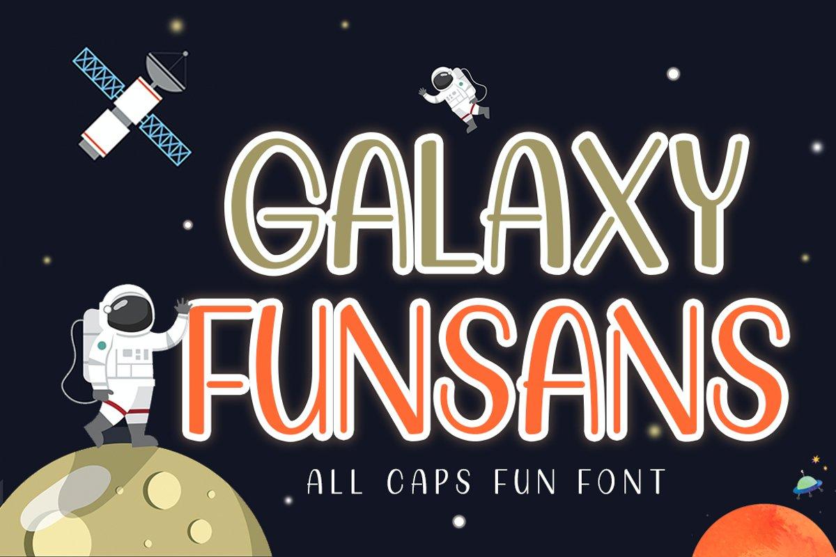 Galaxy Funsans | All Caps Fun Font example image 1