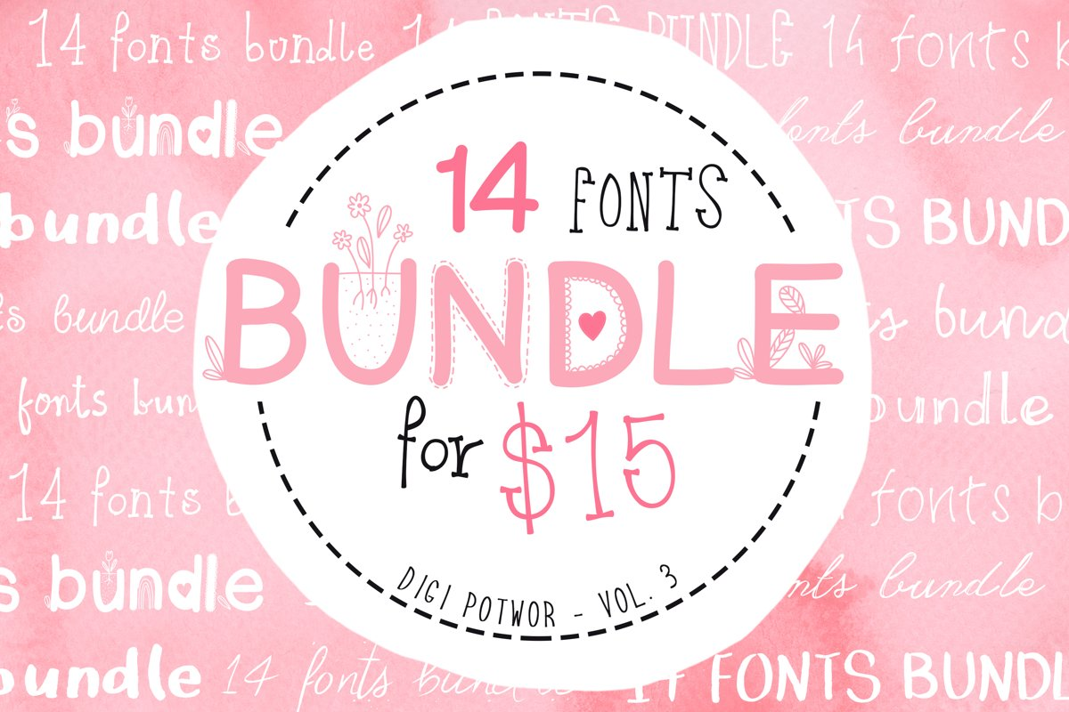 14 Fonts bundle vol.3 example image 1