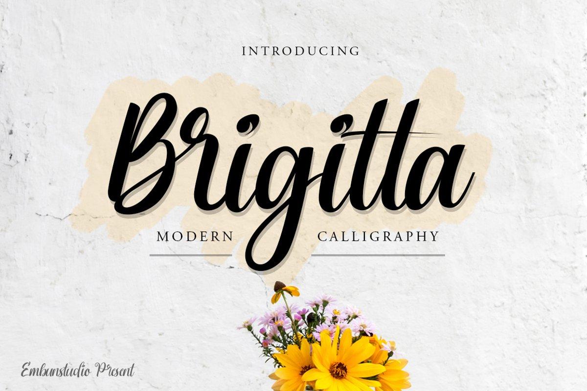Brigitta Script example image 1