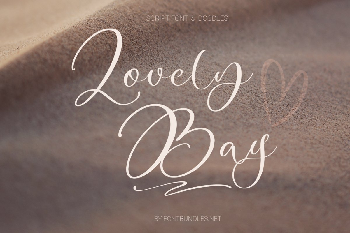 Lovely Bay Script Font example image 1