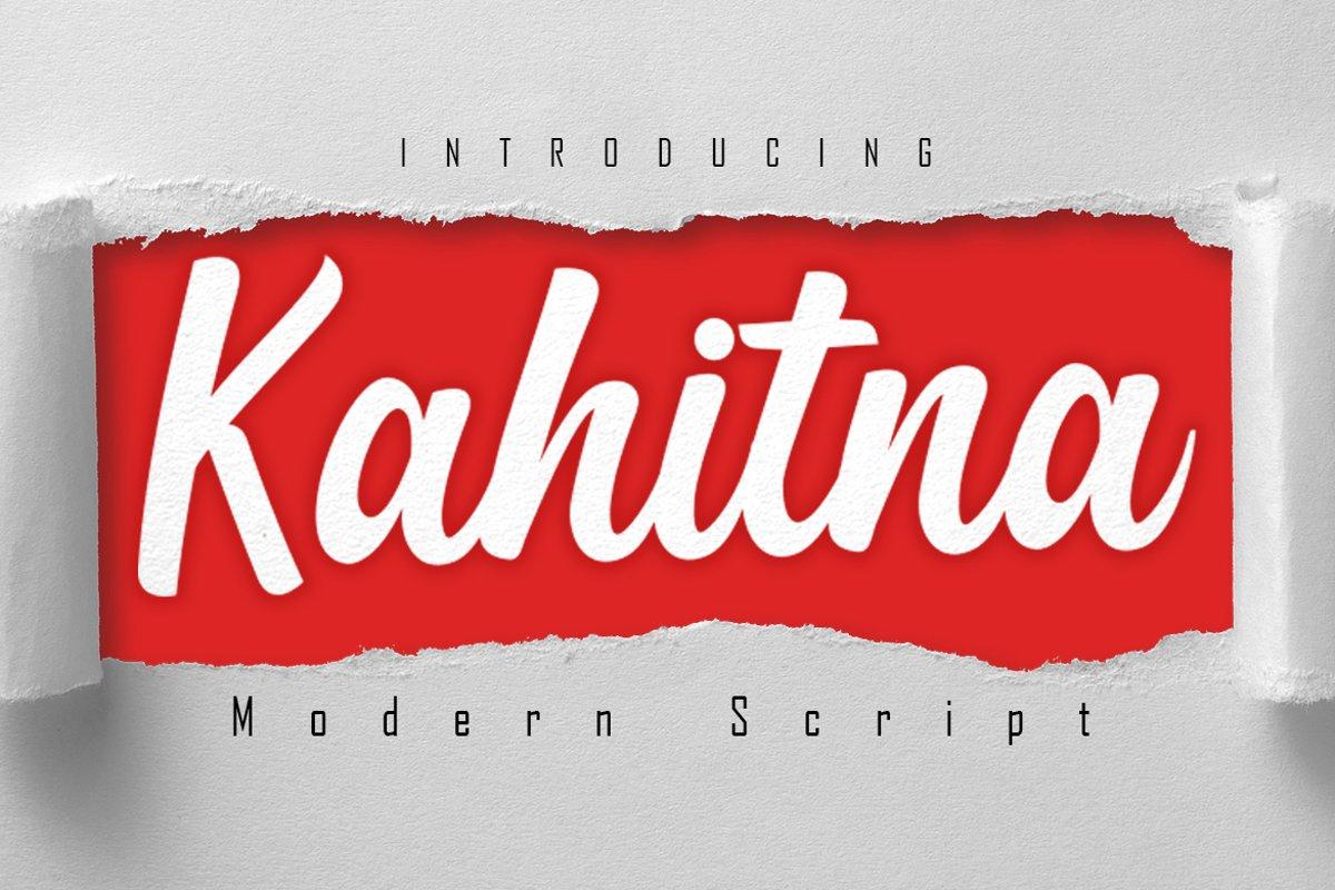 Kahitna Modern Script Font example image 1
