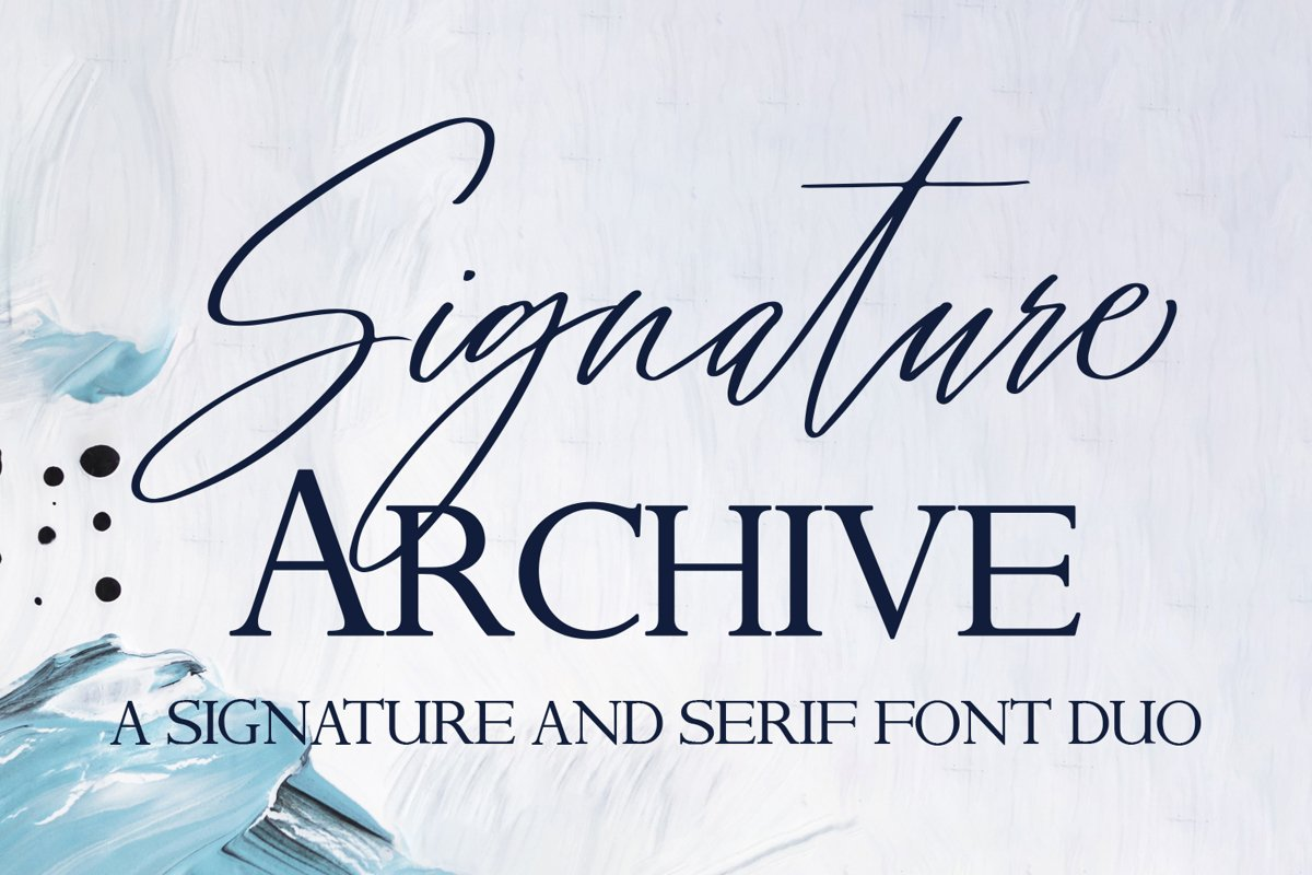 Signature Archive - A Signature and Serif Font Duo example image 1