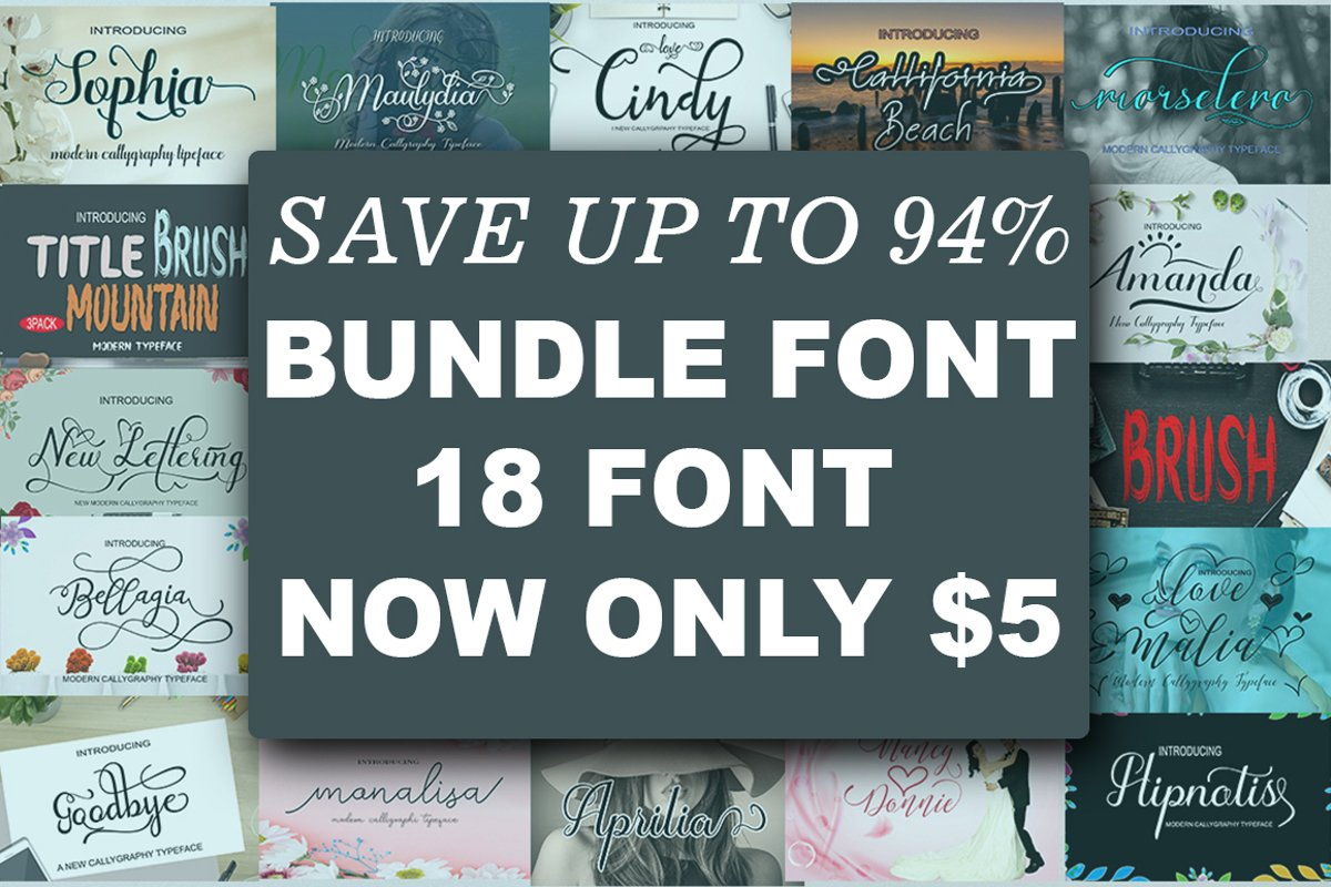 HAPPY NEW YEAR Font Bundle example image 1