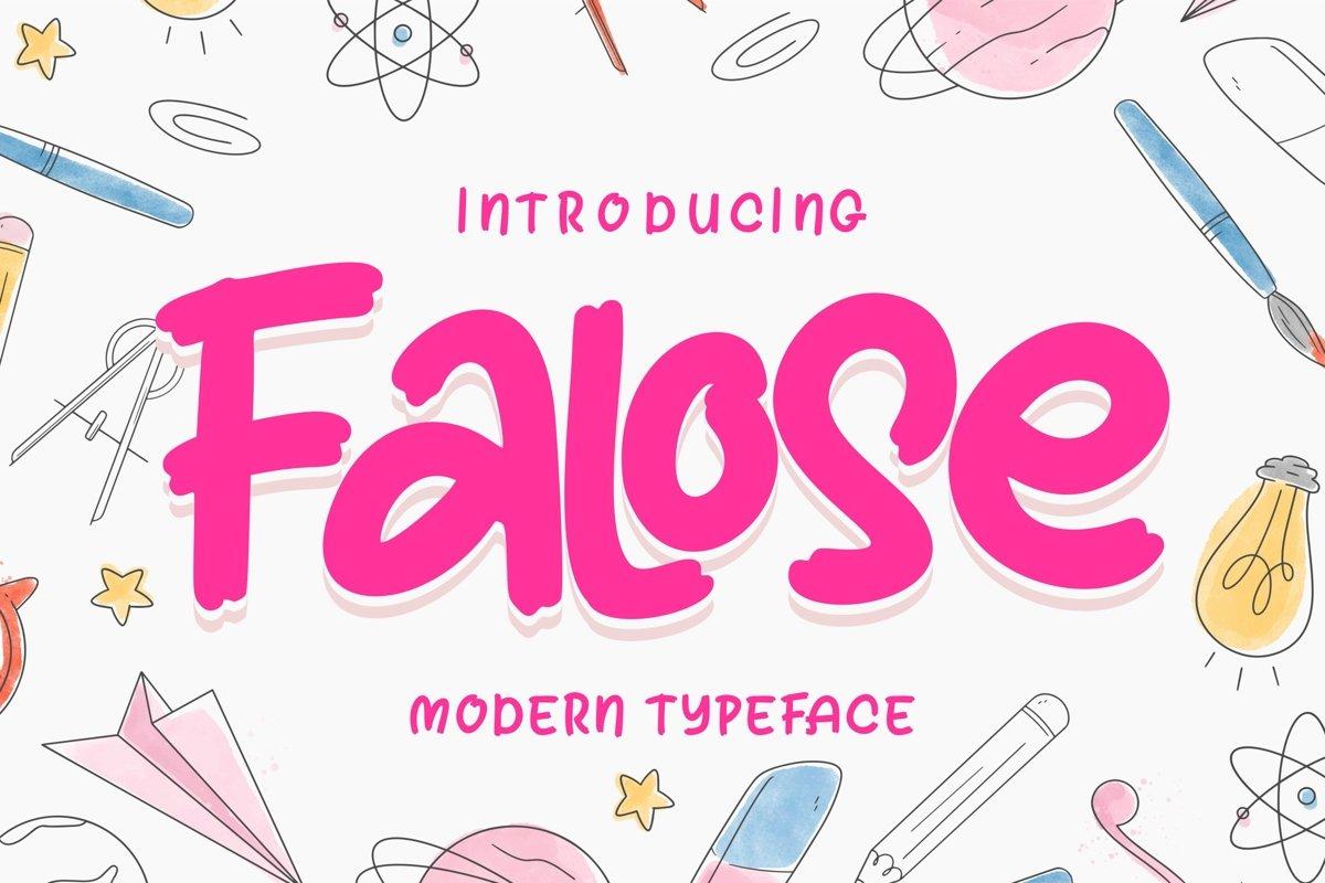 Falose   Modern Typeface Font example image 1