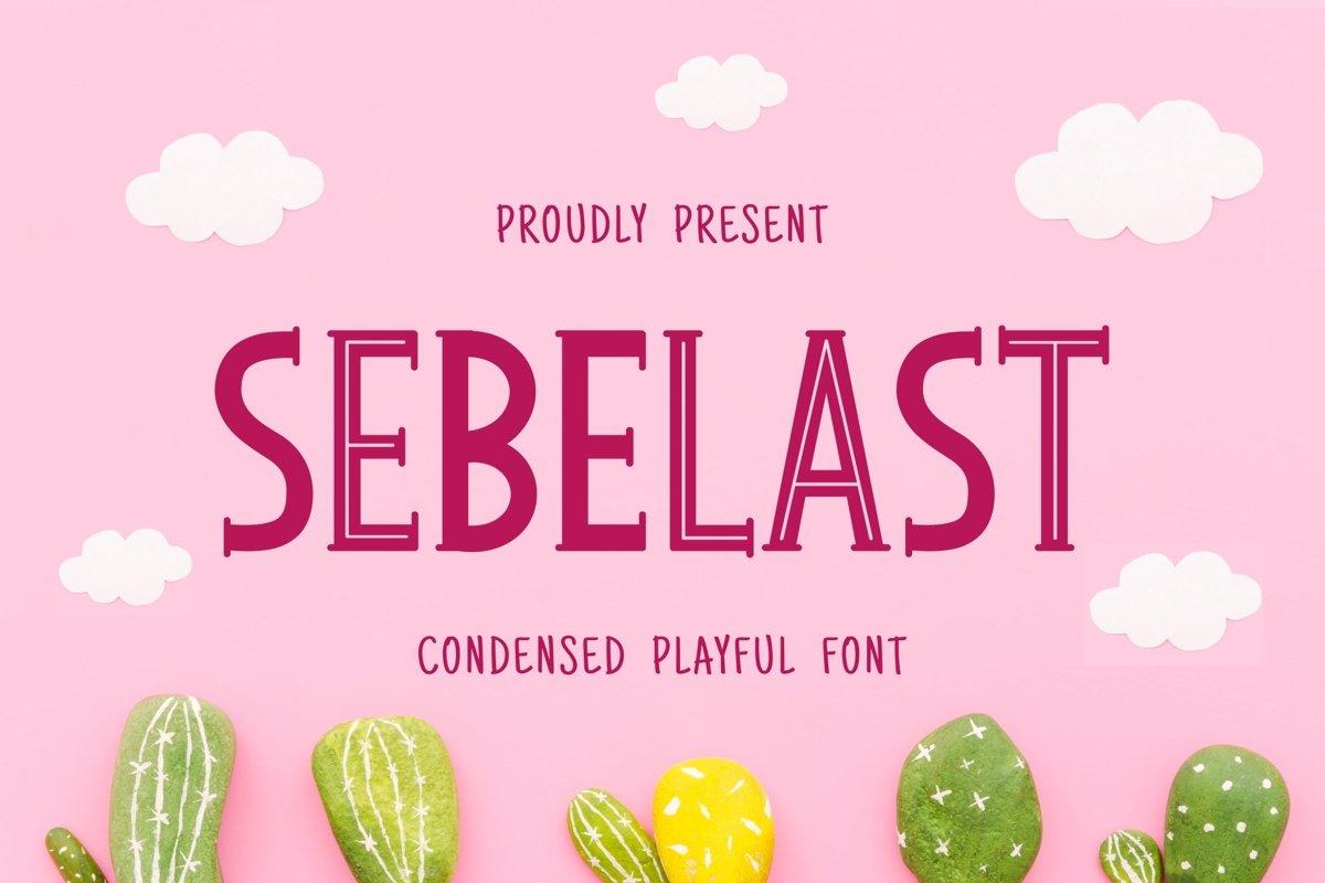 Sebelast Font example image 1