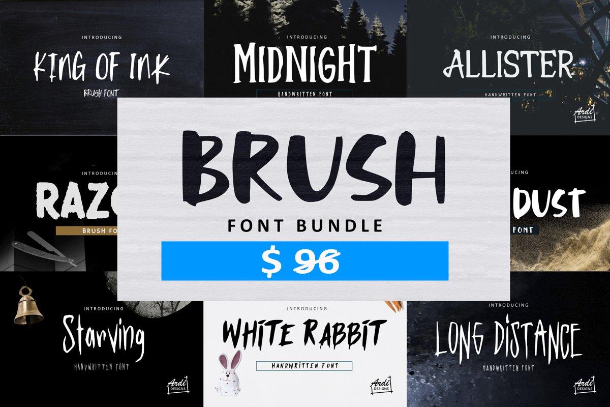 Brush Font Bundle example image 1