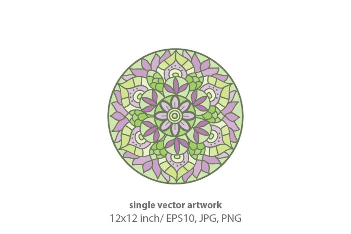 Mandala - single vector artwork example image 1