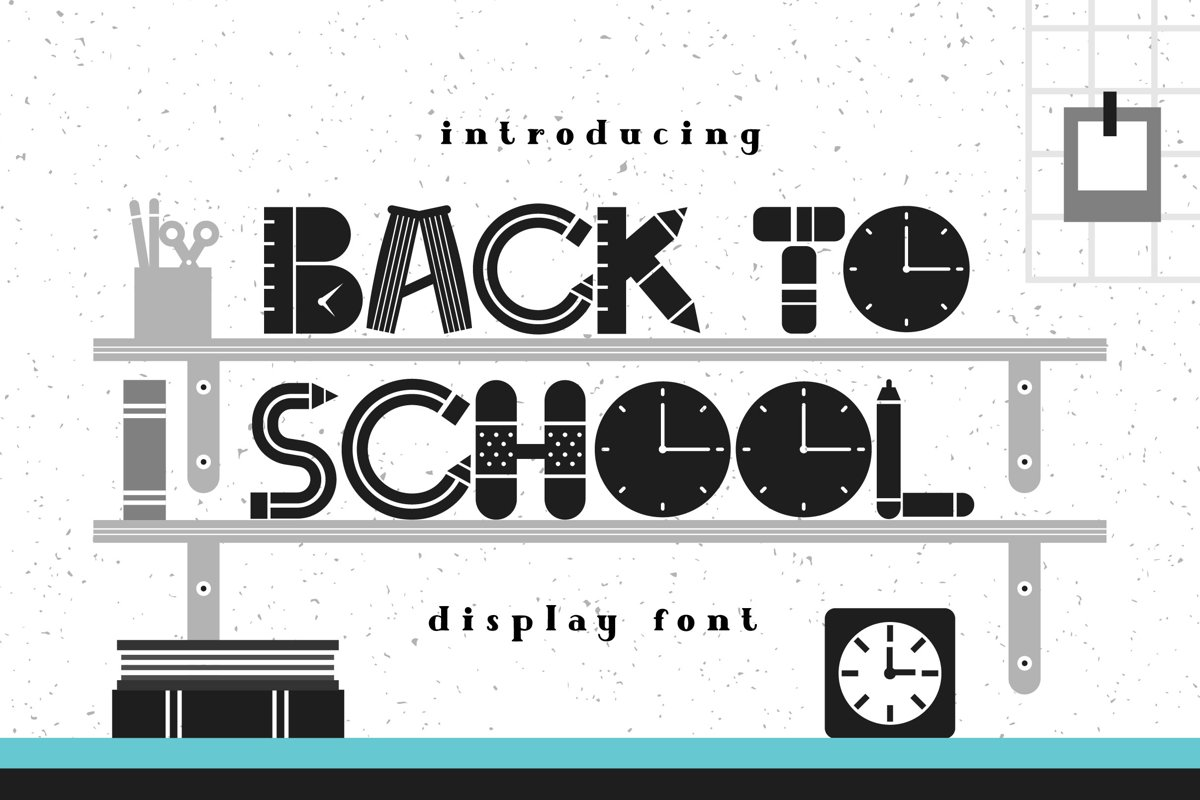 Back To School Font example image 1