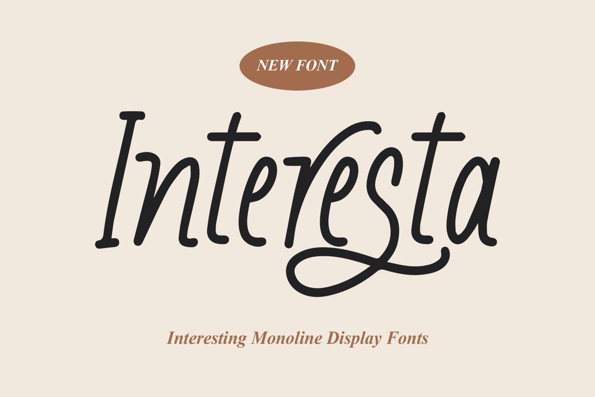 Interesta - Display Monoline Fonts example image 1