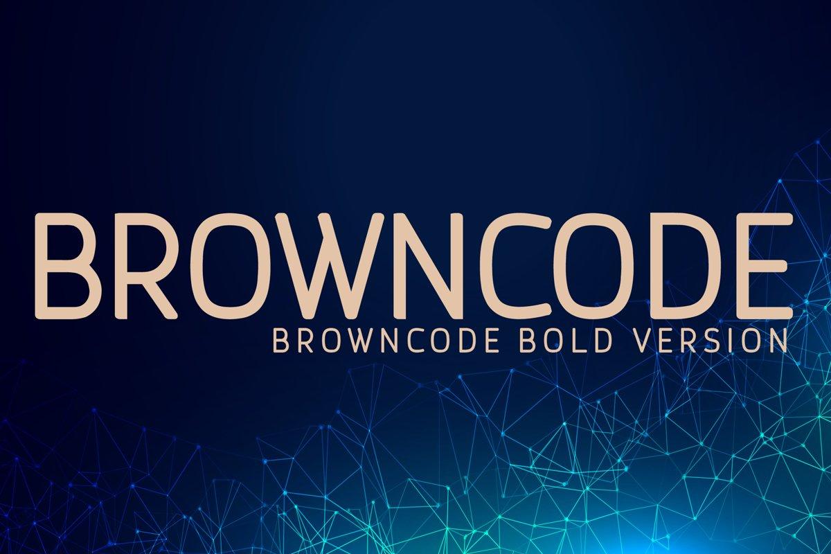 Browncode Bold Versionl Elegant font sans serif example image 1