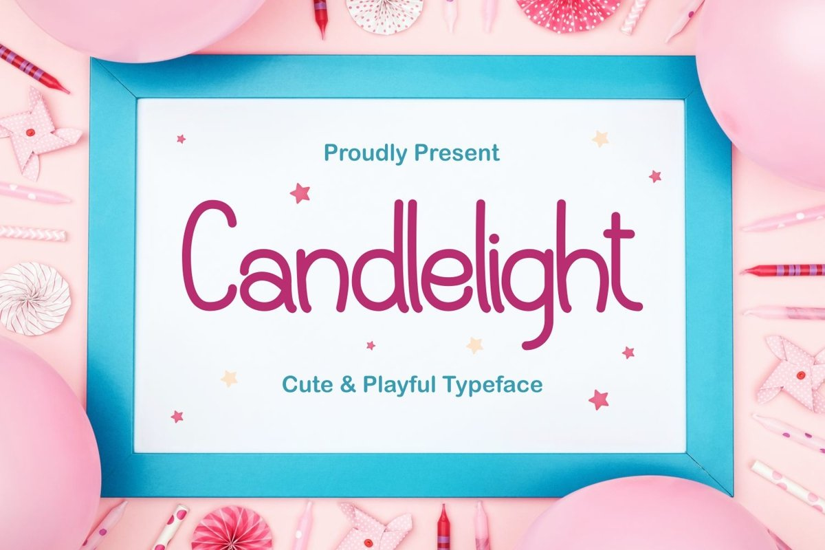 Candlelight - Cute & Playful Typeface example image 1