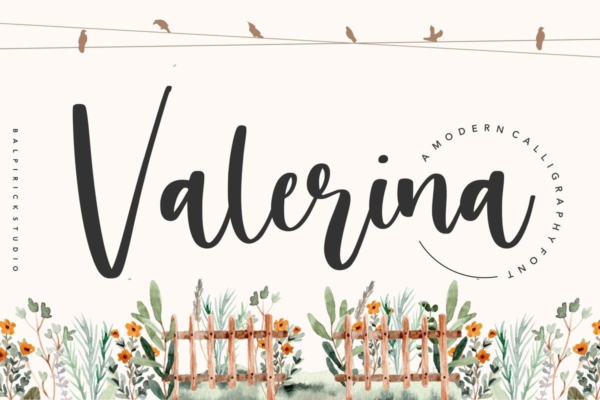 Valerina Modern Calligraphy Font example image 1