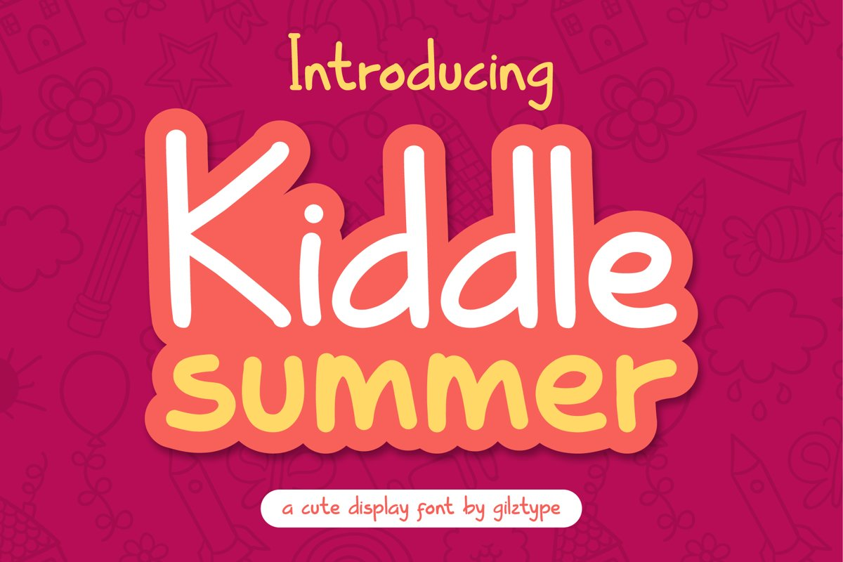 Kiddle Summer - Cute Display Font example image 1