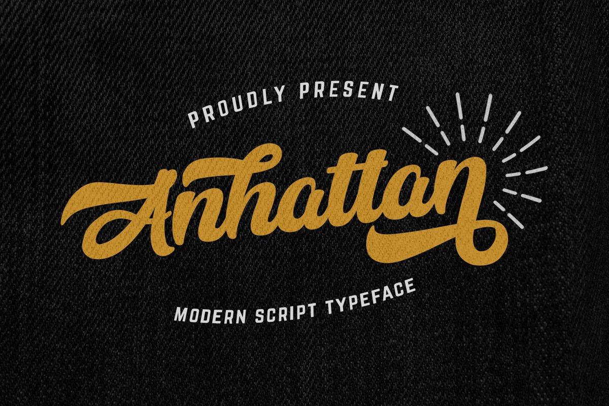 Anhattan - Retro Bold Script Font example image 1