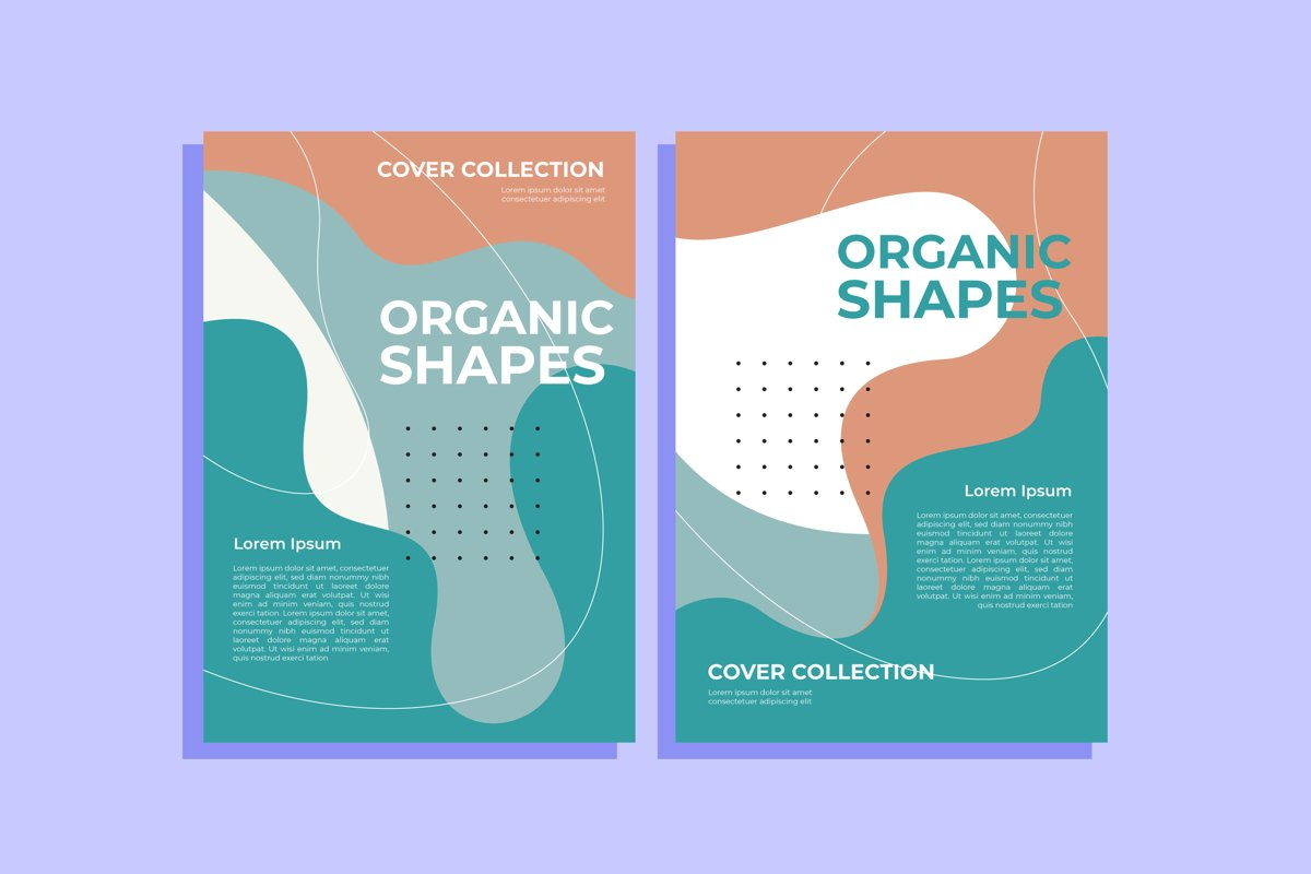 Cover Template Collection With Organic Shapes example image 1