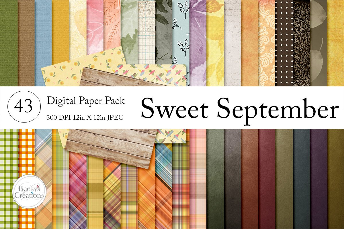 Sweet September Paper Pack Bundle example image 1
