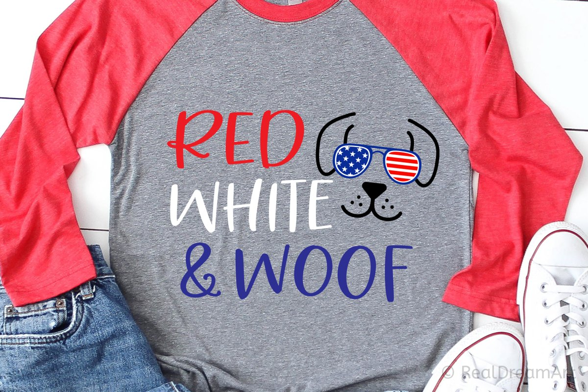 Red White and Woof SVG, DXF, PNG, EPS example image 1
