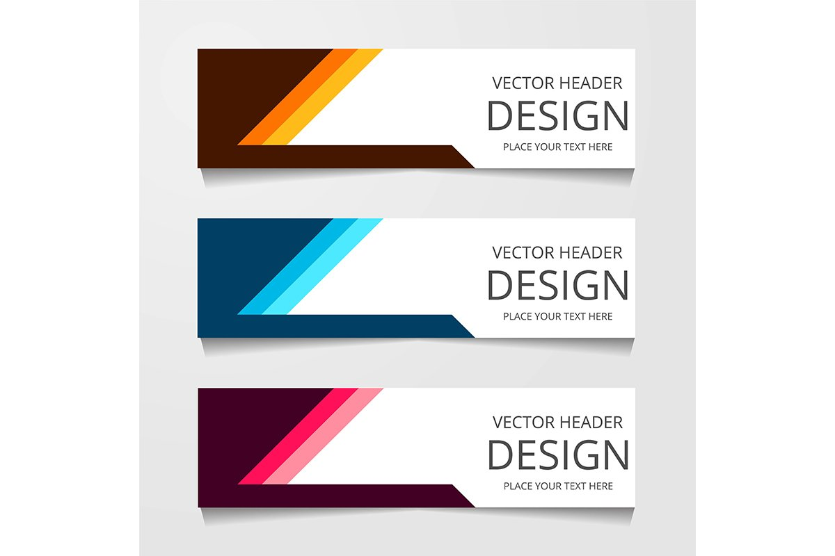 Vector abstract banner design. modern web template example image 1