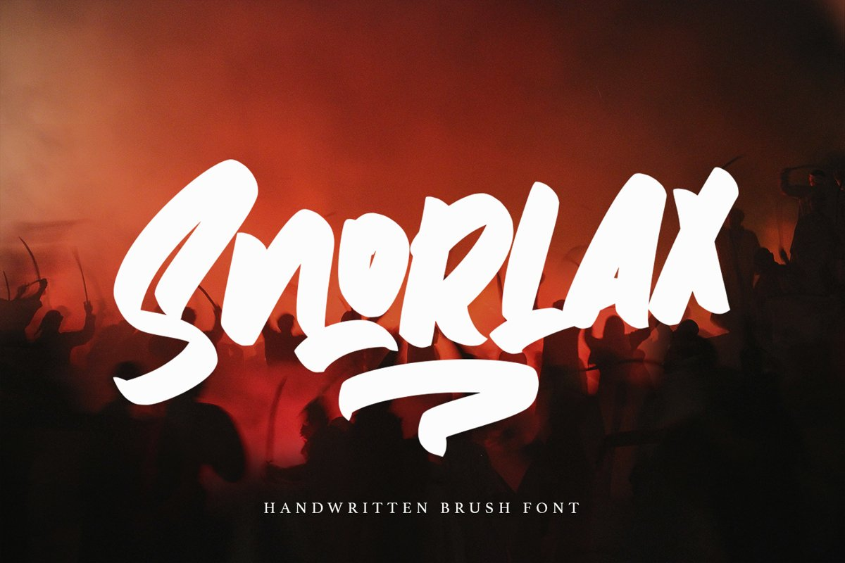 Snorlax - Script Bold Fonts example image 1