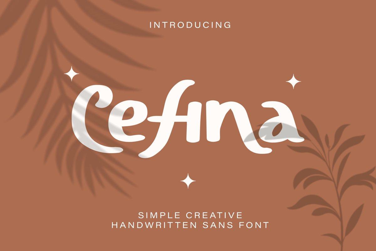 Cefina - Handwritten Sans Font example image 1