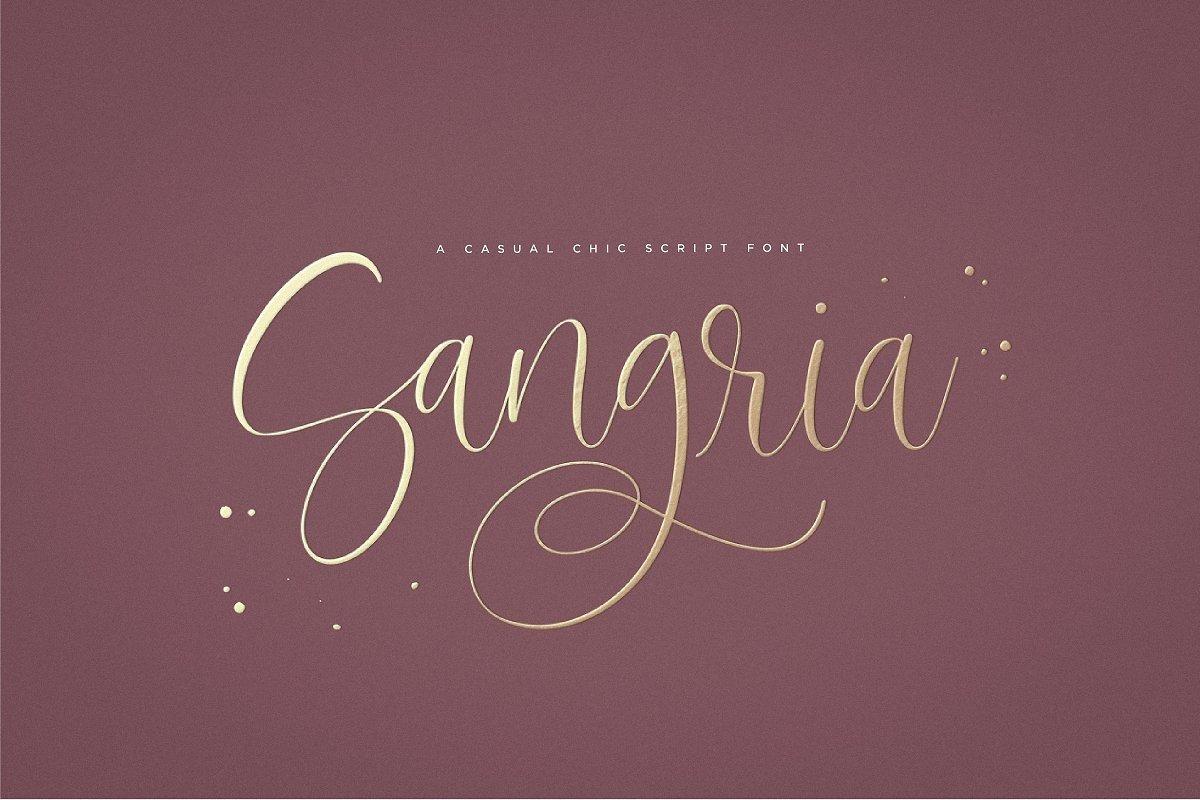 Sangria Script Font example image 1