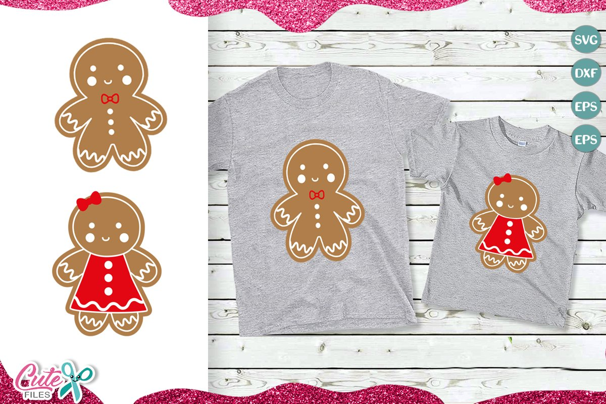 Gingerbread Man svg, christmas example image 1