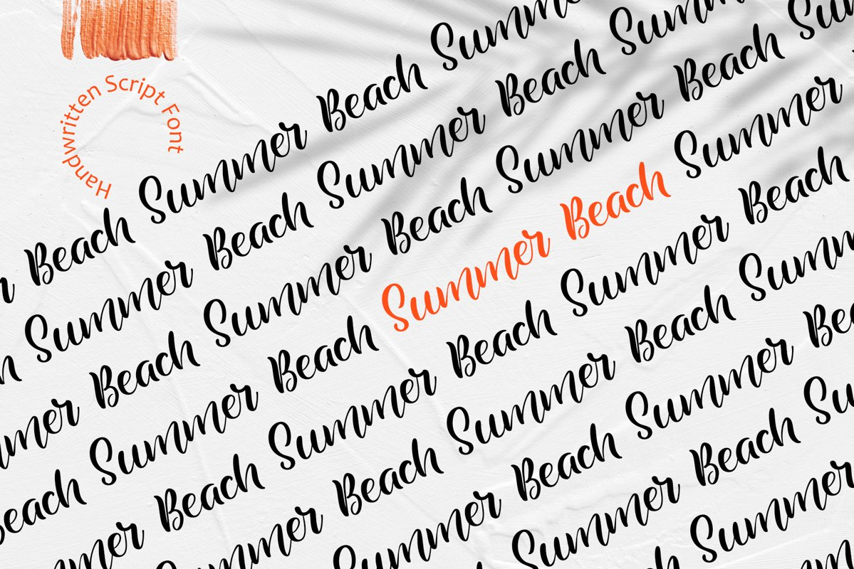 Summer Beach Handwriting Font example image 1