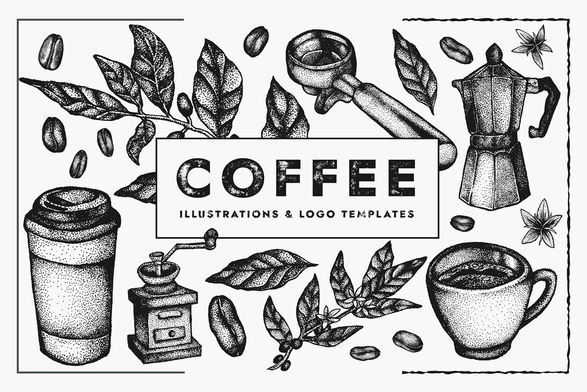 Coffee Vectors | Illustration set example image 1