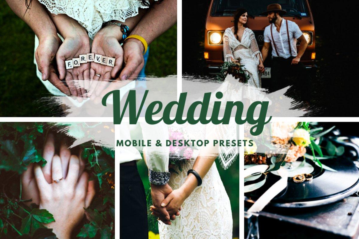 Wedding Mobile and Desktop Lightroom Presets example image 1