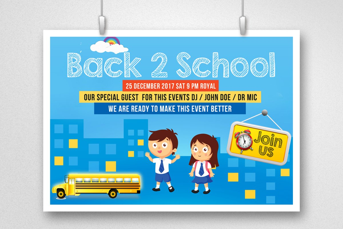 Back To School Flyer Template example image 1