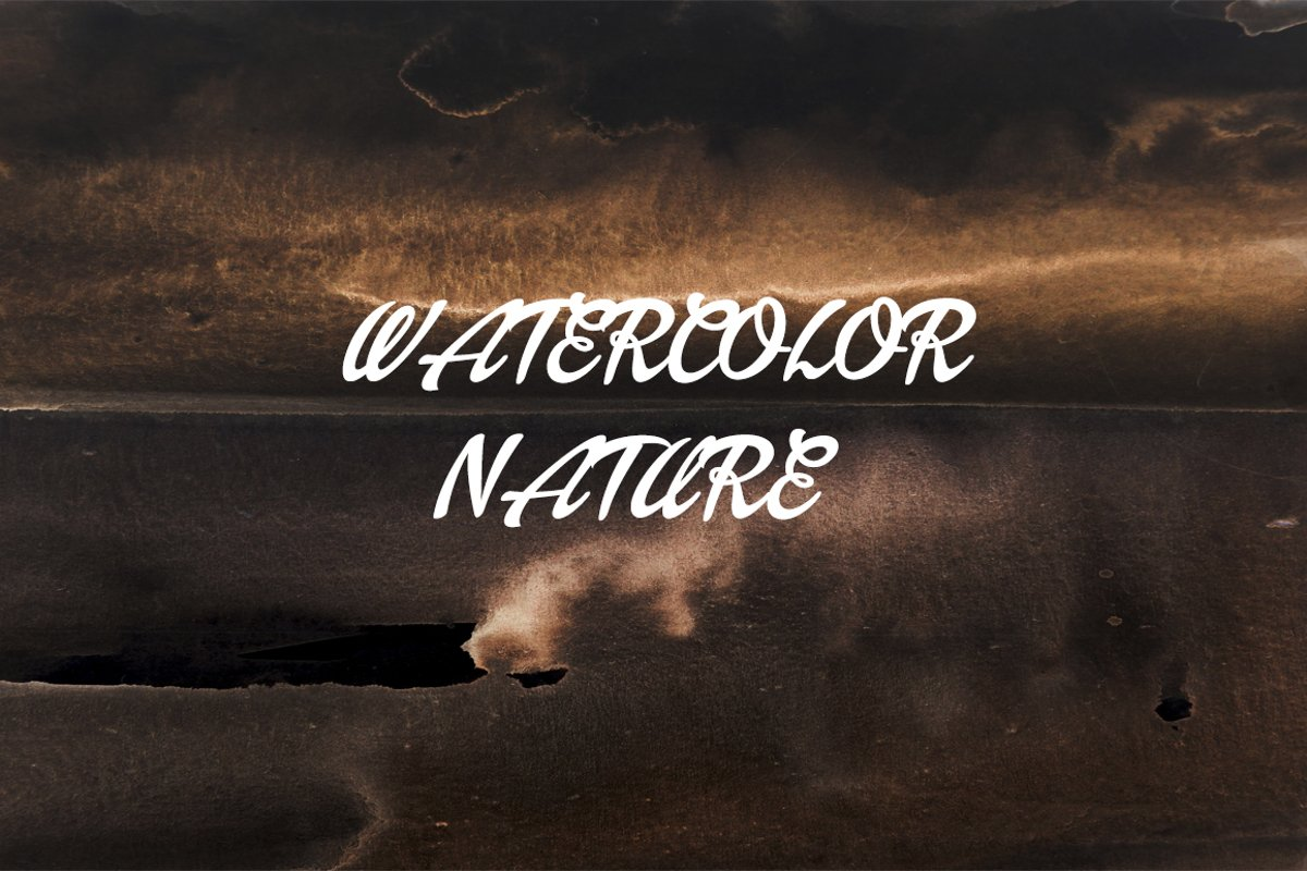 watercolor abstract texture and nature and landscape example image 1