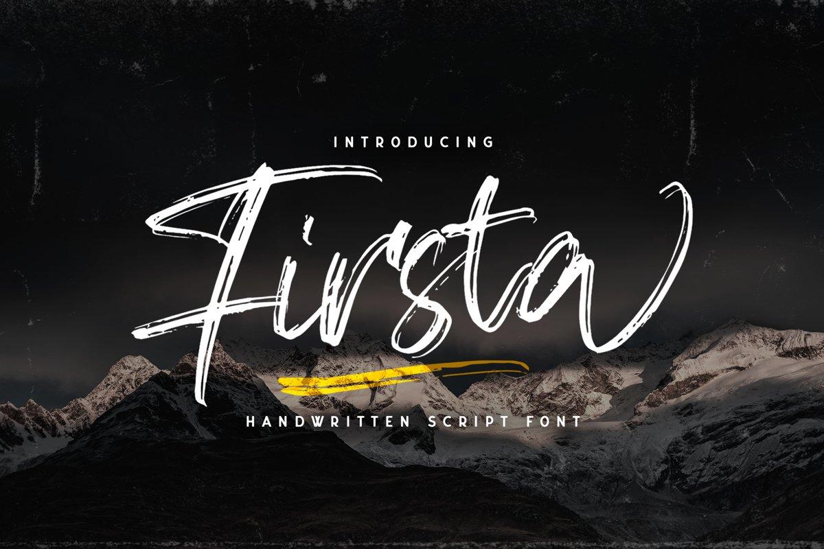 Firsta - Handwritten Font example image 1