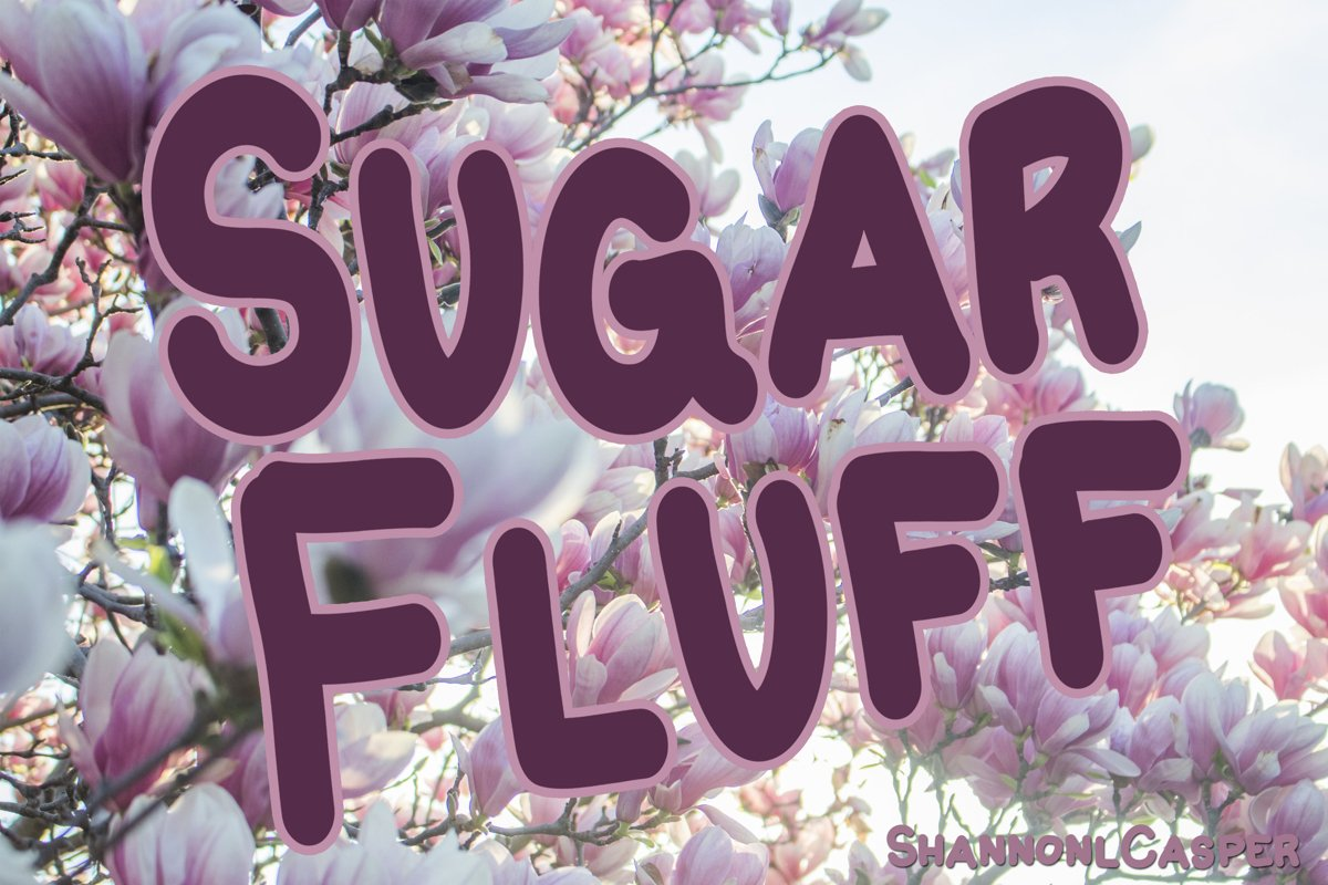 Sugar Fluff Fun Handwritten Font example image 1