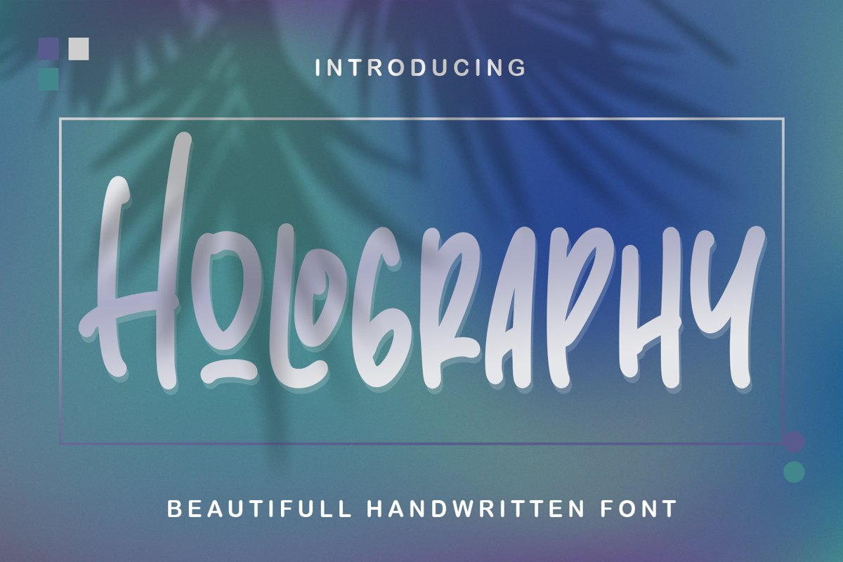 Holography - Beautifull Handwritten Font example image 1