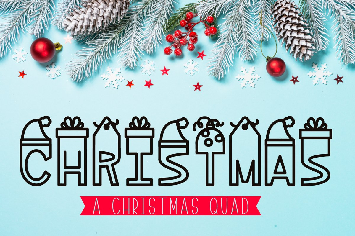 Christmas - A Silly Christmas Quad example image 1