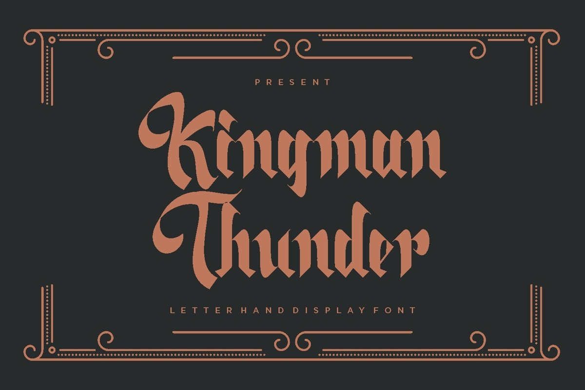 KingmanThunder - Display Font example image 1