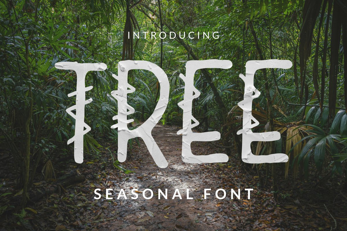 Tree Font example image 1